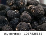 Small photo of market basket of a black truffle and make sure it is good and that it is of excellent quality