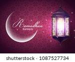 ramadan kareem greeting card...   Shutterstock .eps vector #1087527734