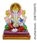 Small photo of Showpiece Ganesh idol for home decoration