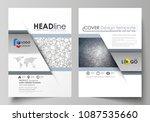 business templates for brochure ... | Shutterstock .eps vector #1087535660