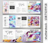 business templates for tri fold ... | Shutterstock .eps vector #1087535918