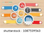 cargo and logistic info graphic ... | Shutterstock .eps vector #1087539563