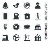 black vector icon set fan... | Shutterstock .eps vector #1087540349