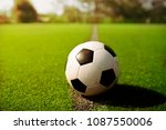 football on green grassor occer ... | Shutterstock . vector #1087550006