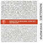 industrial vector icon set | Shutterstock .eps vector #1087550696