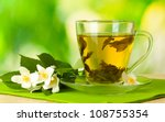 Cup Of Green Tea With Jasmine...