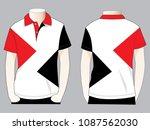 stripe polo shirt design vector   Shutterstock .eps vector #1087562030