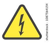 high voltage sign. danger... | Shutterstock .eps vector #1087564154