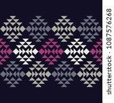 ethnic boho seamless pattern.... | Shutterstock .eps vector #1087576268