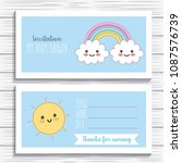 kawaii cartoon concept | Shutterstock .eps vector #1087576739