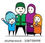 islamic family | Shutterstock .eps vector #108758498