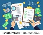 business analyst  financial... | Shutterstock .eps vector #1087590068