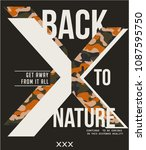 back to nature x.  military... | Shutterstock .eps vector #1087595750