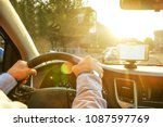directions on cell phone in... | Shutterstock . vector #1087597769