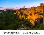 pitigliano medieval town in... | Shutterstock . vector #1087599218