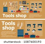 tools shop interior banners... | Shutterstock .eps vector #1087600193