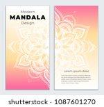 abstract mandala banner design. ...   Shutterstock .eps vector #1087601270