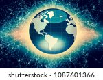 best internet concept of global ... | Shutterstock . vector #1087601366