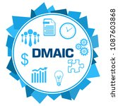 dmaic   define measure analyse... | Shutterstock . vector #1087603868