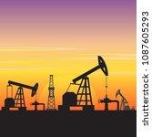 oil gas fuel energy industry...   Shutterstock .eps vector #1087605293
