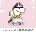 unique cartoon unicorn with... | Shutterstock .eps vector #1087606136
