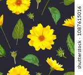 seamless pattern with... | Shutterstock .eps vector #1087615016