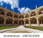 the jeronimos monastery  ... | Shutterstock . vector #1087615394