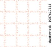 vector check hand drawn pattern.... | Shutterstock .eps vector #1087617833