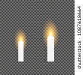 realistic candles isolated on... | Shutterstock .eps vector #1087618664