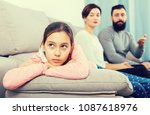 father and mother telling off... | Shutterstock . vector #1087618976