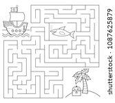 educational maze game for... | Shutterstock .eps vector #1087625879
