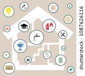 vector illustration of home... | Shutterstock .eps vector #1087626116