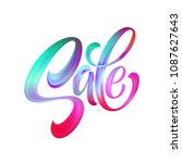 sale calligraphic lettering.... | Shutterstock .eps vector #1087627643