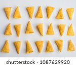 Corn cones pattern on white...