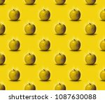 pattern apples. fresh and wet... | Shutterstock . vector #1087630088