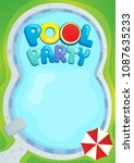 pool party theme image 1  ... | Shutterstock .eps vector #1087635233