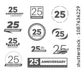 twenty five years anniversary... | Shutterstock .eps vector #1087636229