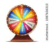 fortune wheel vector. realistic ...   Shutterstock .eps vector #1087636313