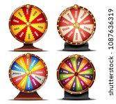 wheel of fortune set vector....   Shutterstock .eps vector #1087636319