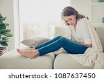 sad  upset  unhappy woman... | Shutterstock . vector #1087637450