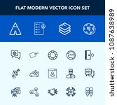 modern  simple vector icon set... | Shutterstock .eps vector #1087638989