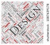 vector conceptual creativity... | Shutterstock .eps vector #1087639178