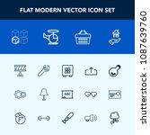 modern  simple vector icon set... | Shutterstock .eps vector #1087639760