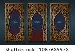 vintage golden packaging design ... | Shutterstock .eps vector #1087639973