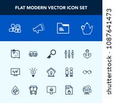 modern  simple vector icon set... | Shutterstock .eps vector #1087641473