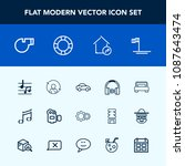 modern  simple vector icon set... | Shutterstock .eps vector #1087643474