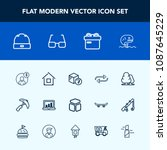 modern  simple vector icon set... | Shutterstock .eps vector #1087645229