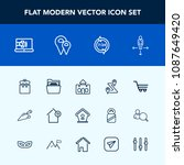 modern  simple vector icon set... | Shutterstock .eps vector #1087649420