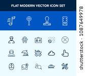 modern  simple vector icon set... | Shutterstock .eps vector #1087649978