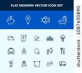 modern  simple vector icon set... | Shutterstock .eps vector #1087650890